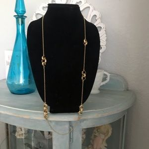 Coach Chainlink Gold Tone Long Necklace